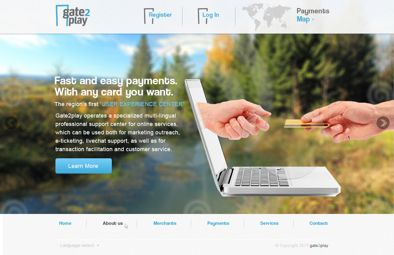 Create the next website design for Gate2Play