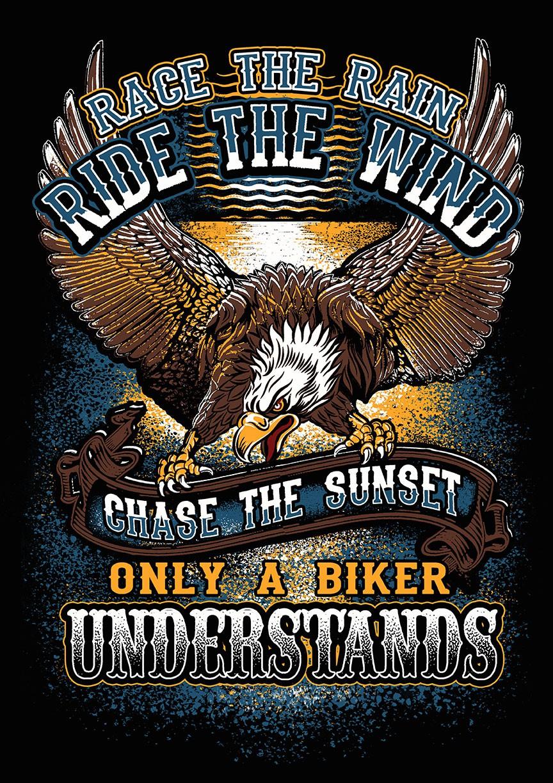 """Race the Rain, Ride the Wind"" Biker T-Shirt Contest"