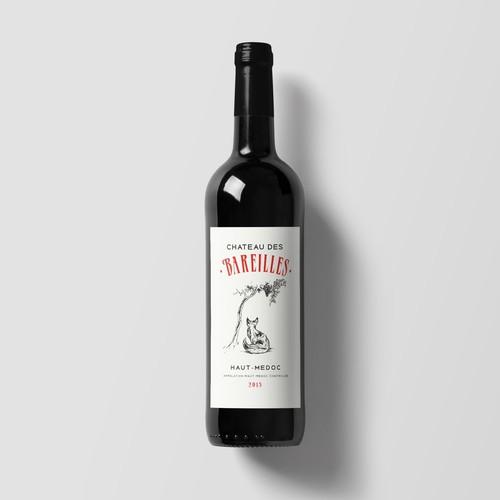 Wine Label - Chateau des Bareilles