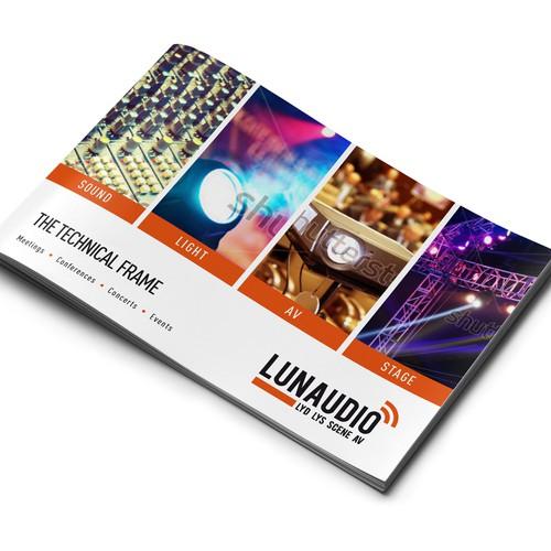 "Create a beautiful ""wow"" brochure for high end Audio Visual company!"