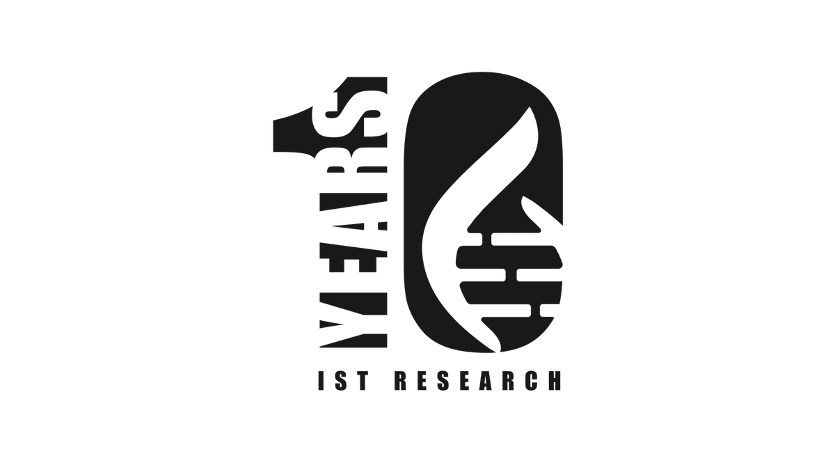 Graphic for IST Research 10 Years shirt