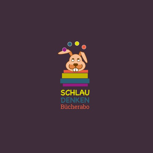 Playful Logo for philosophical bookshop for kids