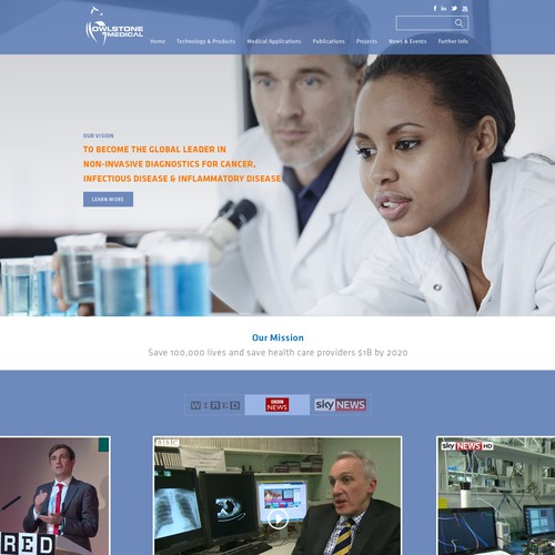 Scientific Research Instrument Landing Page