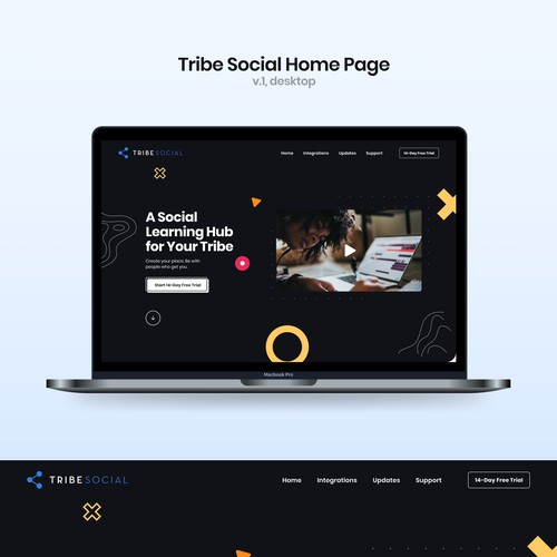Home Page for a New Video Streaming Platform