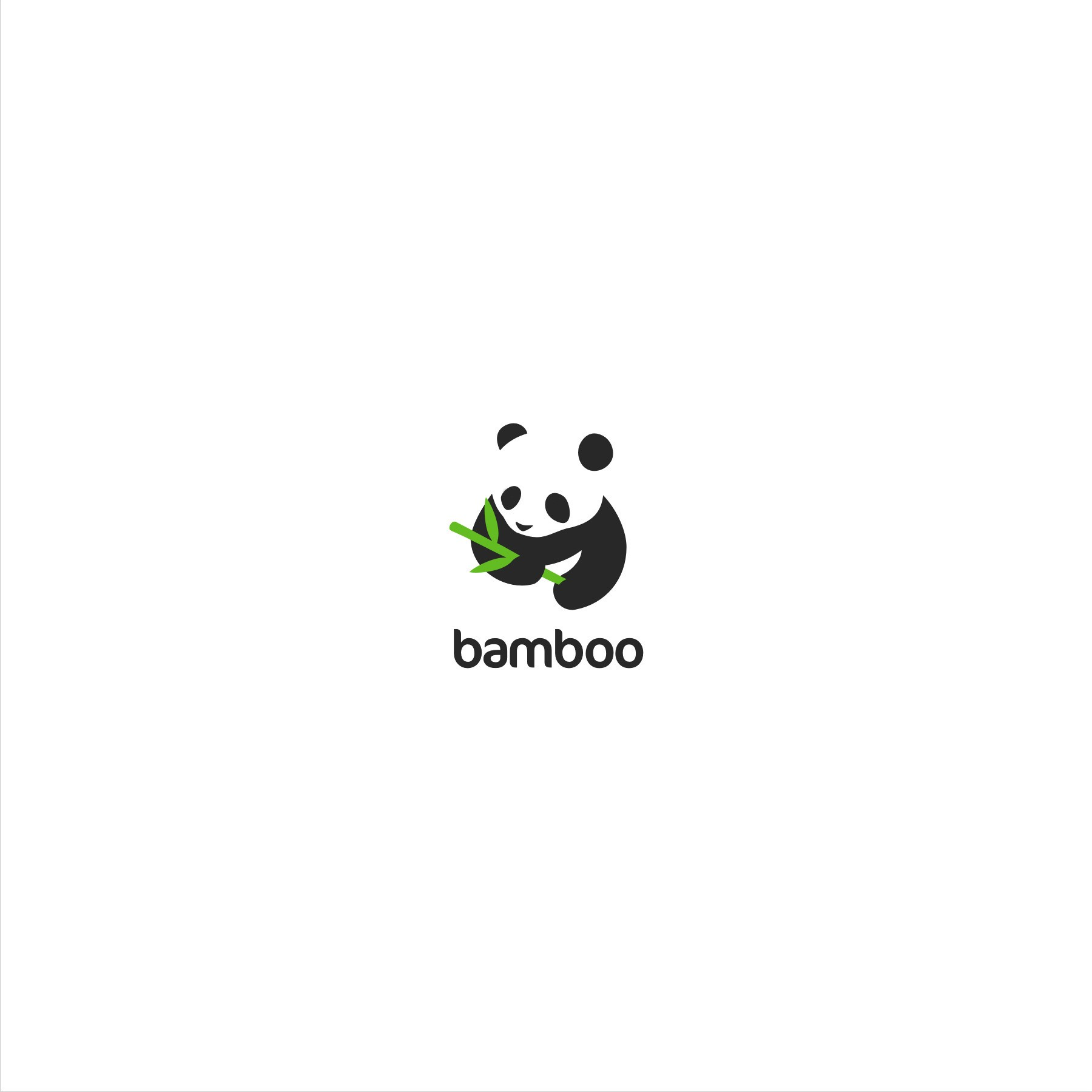Panda/Bamboo logo for a Non-profit smart phone app