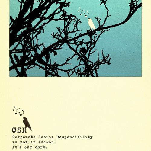 Poster design - corporate social responsibility