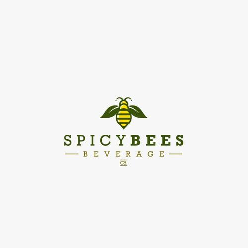 Spicy Bees Logo Branding