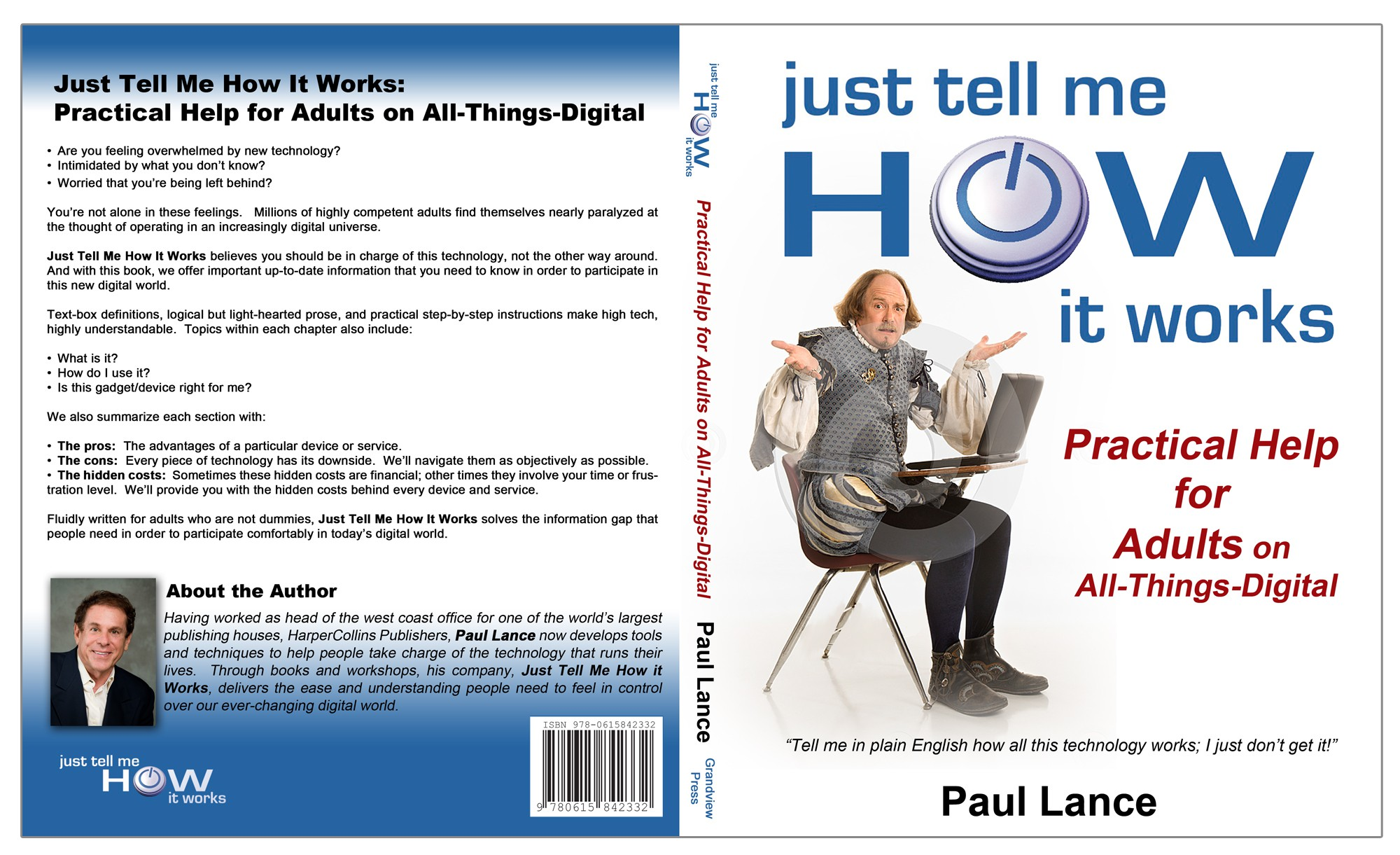 A book that will help your mom and dad feel comfortable about technology.  All it needs is a cover!