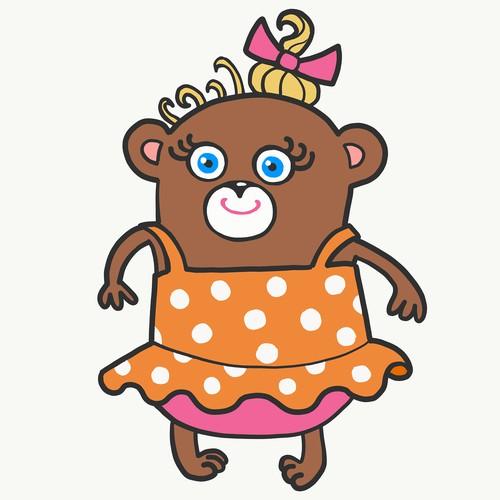 Талисман милый медвежонок-девочка