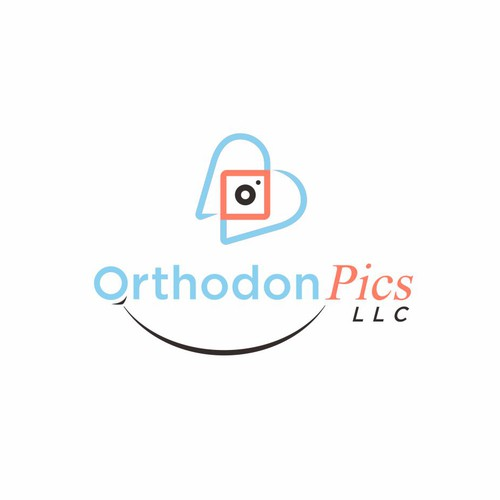 Logo for a business that does marketing for orthodontists, by taking photos from school students