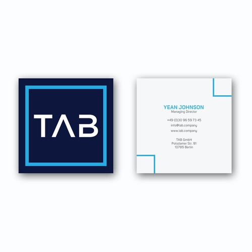 Square Business card for a Business & Consulting Company