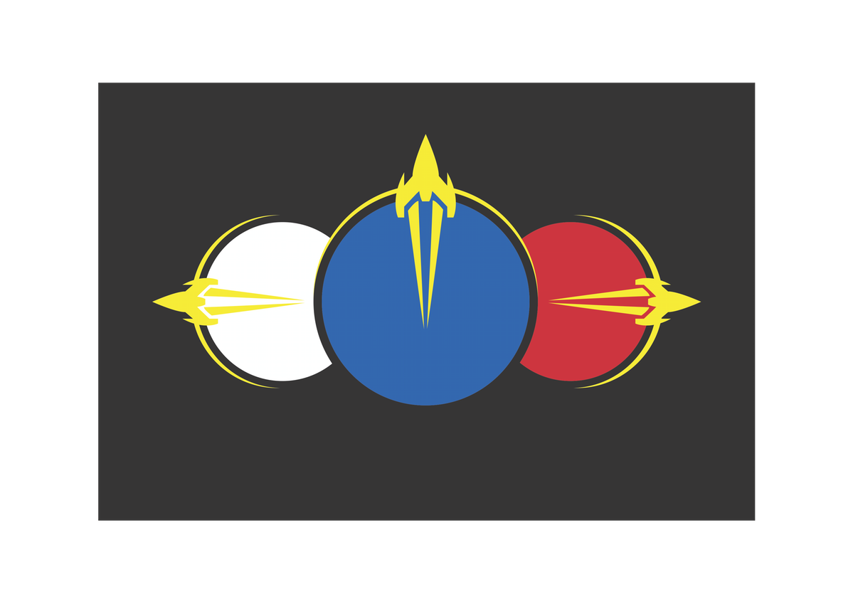 Flag design for Utopia, a space-faring nation in a science fiction novel