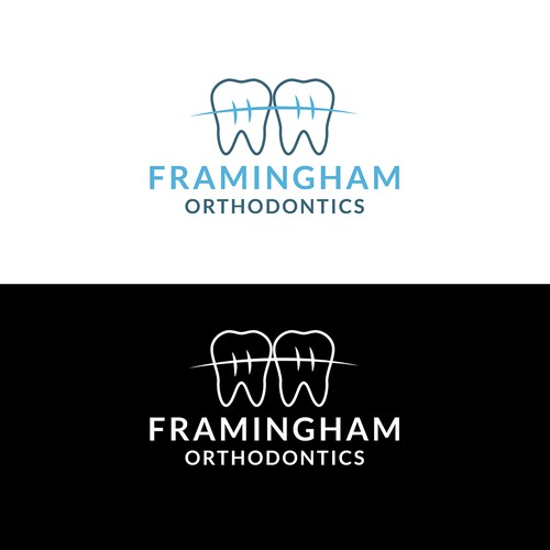 Design a modern logo for a new orthodontist