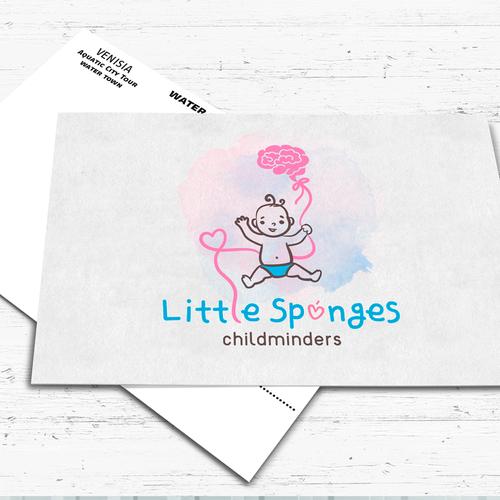 Logo concept for Little Sponges Childminders