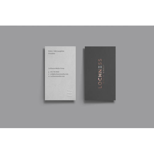 Business Cards for Lochness Media Group