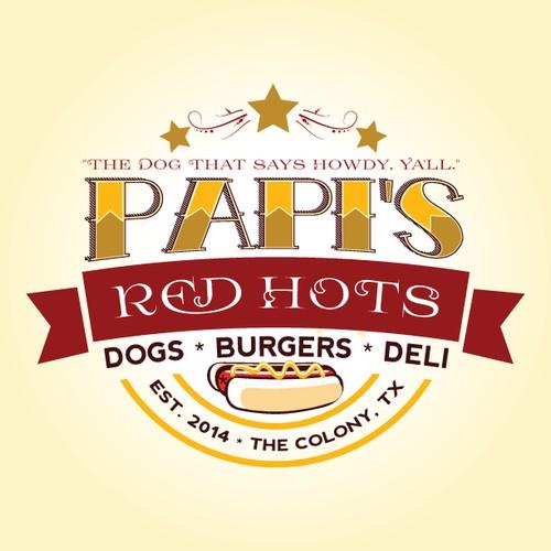 Papi's Red Hots Logo