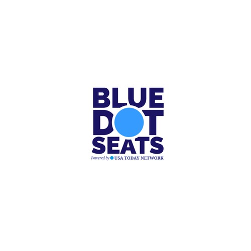 bold logo for blue dot seats