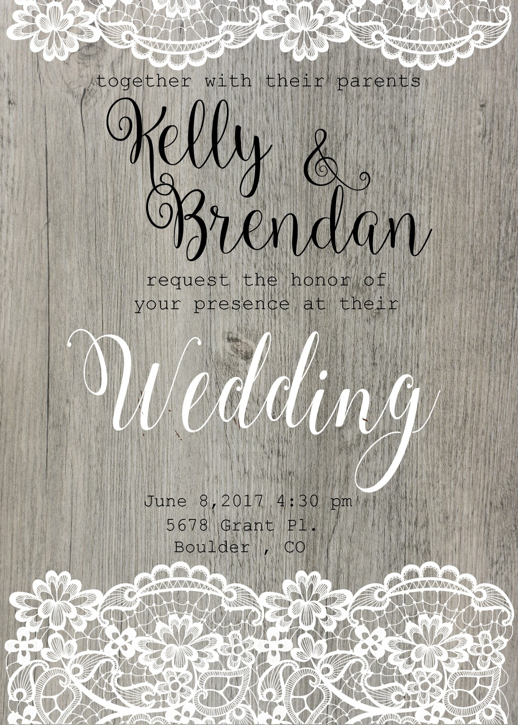 Carved Wooden Wedding Invite Design!