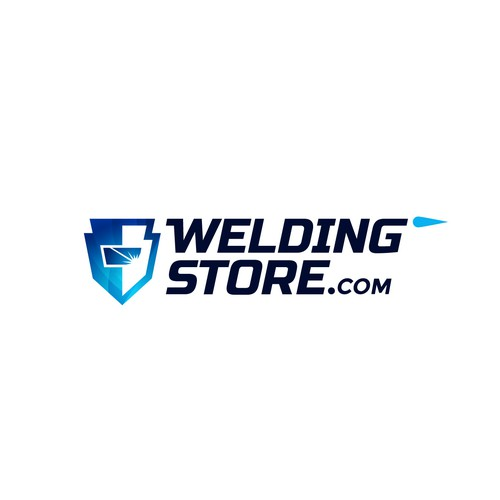 Bold and modern logo for welding online store