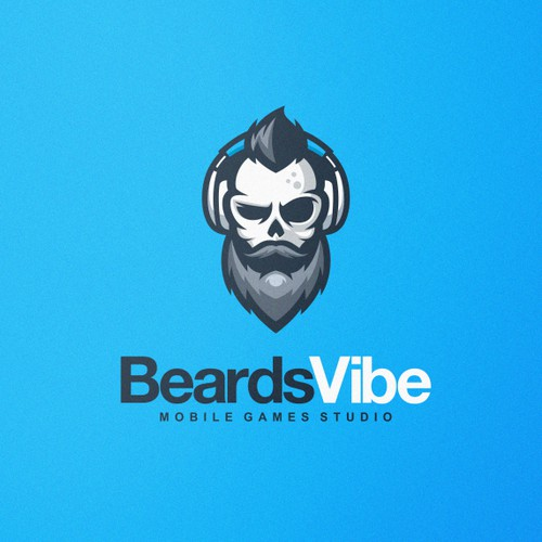 Bold and Strong Logo for BeardsVibe