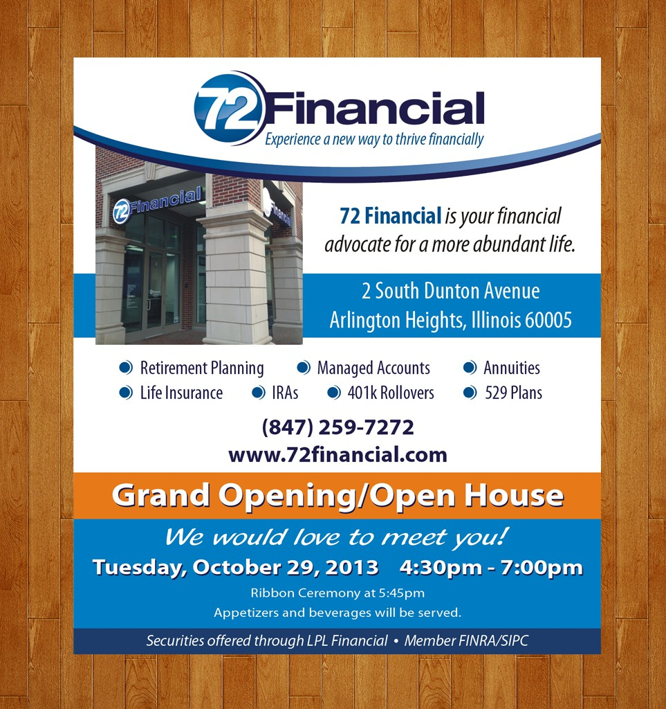 72 Financial needs a Print Ad!