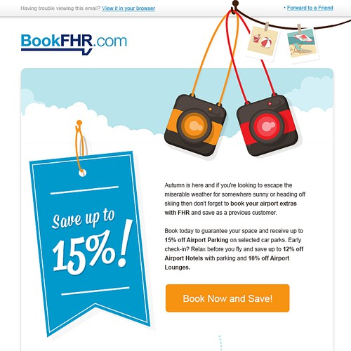 Create a new promotional email template for BookFHR.com