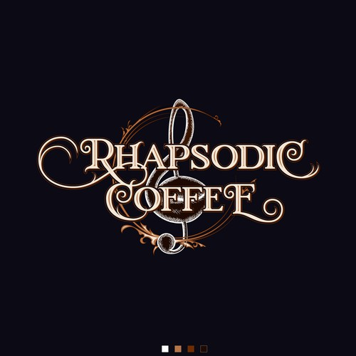 One vintage, victorian type, detailed logo for coffee owner
