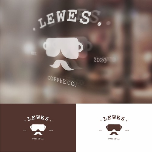 classic logo for LEWES COFFEE CO.