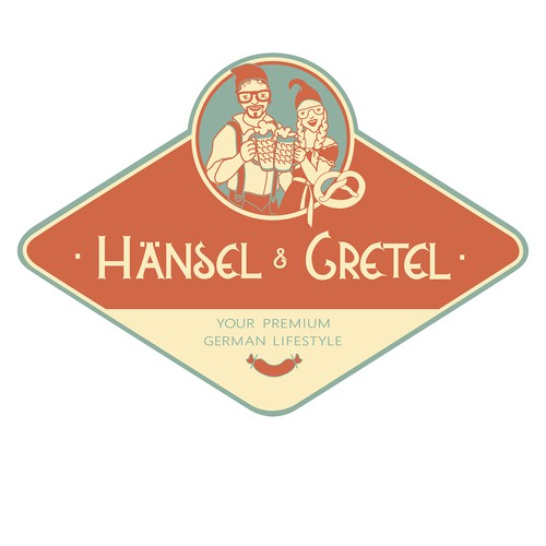 Logo concept for an international online store which sells premium German household products