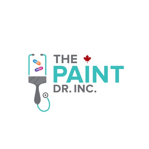 Painting company called The Paint Dr. needs a medically-infused logo