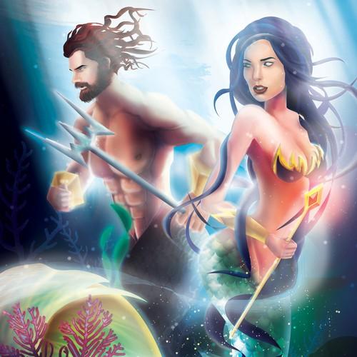 Under water Fantasy art