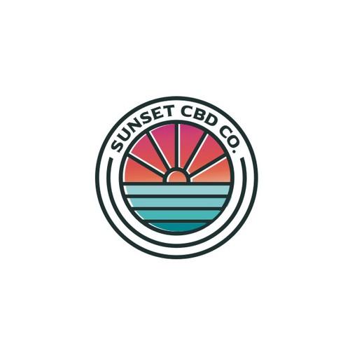 Beach Vibe Logo proposal for Sunset CBD co