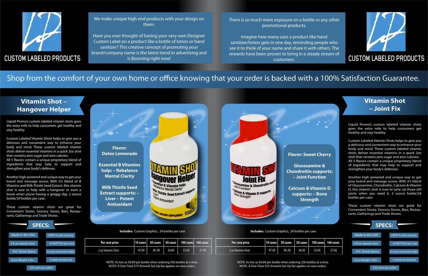 Help Liquid Promo with a new print or packaging design