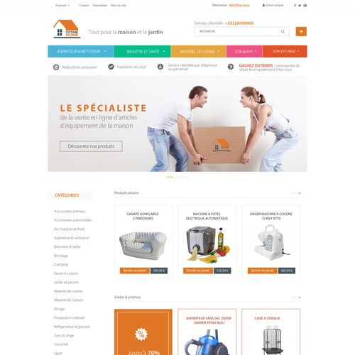 Design for a various items E-commerce
