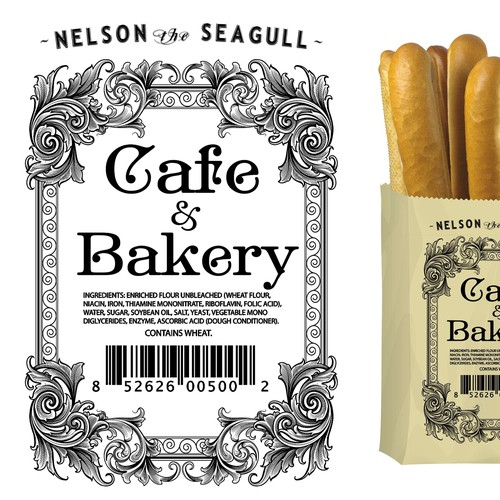 Cafe and Bakery packaging.