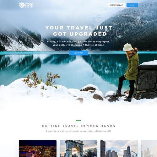 Design a modern Travel website for the next generation of ID90 Travel