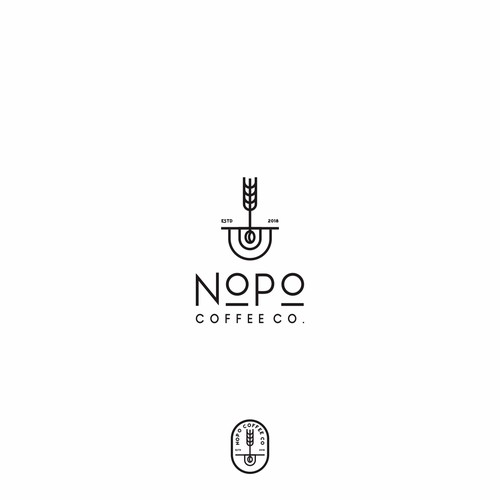 Hipster / Outdoor Enthusiasts NoPo Coffee Co. Logo Design