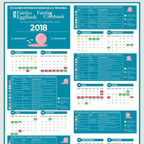 2018 company calendar