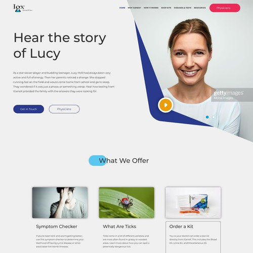 Home Page Design for Medical Company