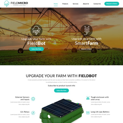 A Modern and Clean Website for FieldMicro