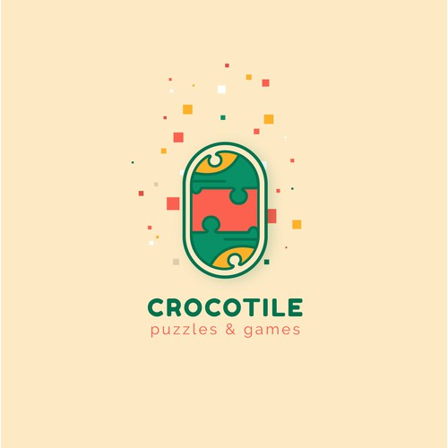 Logo & branding for Crocotile - wooden jigsaw puzzles