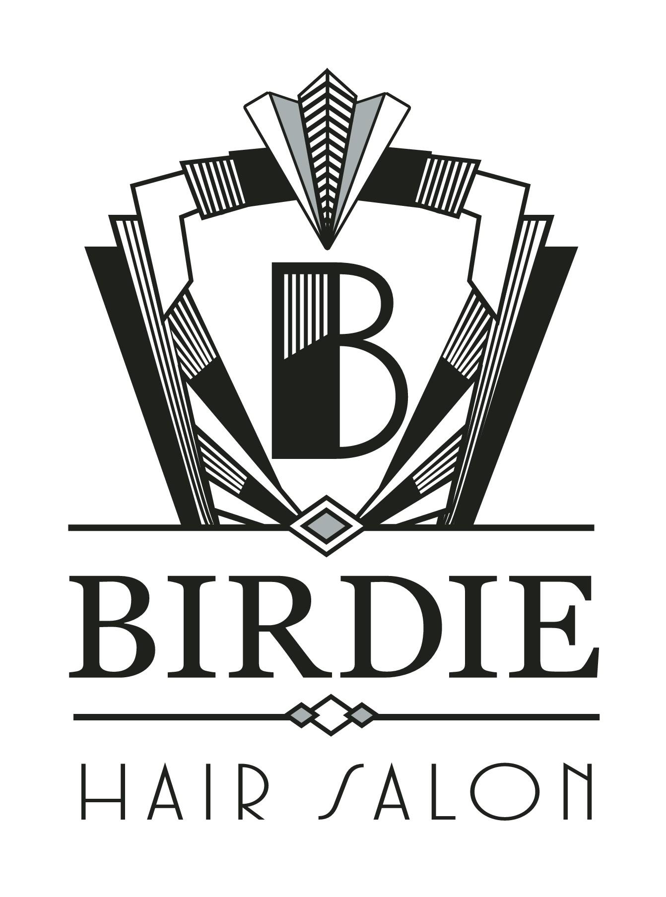 Create a funky, art deco look logo for a highly creative hair salon
