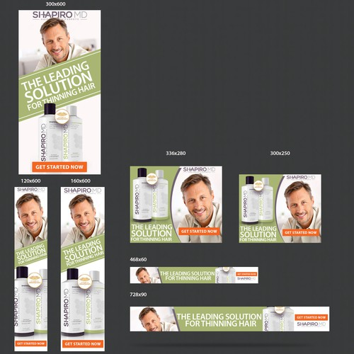 Banner Ad for hair loss product