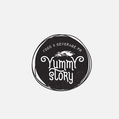 Black and white logo for food and beverage blog