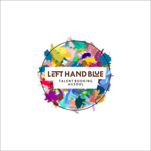 """I called this """"Dirty Fun"""". The design logo concept for """"Left Hand Blue - Talent Booking with Soul"""""""