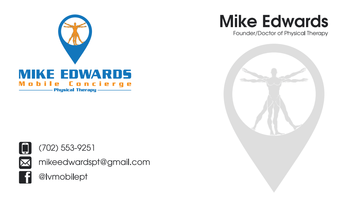 Business card design for Mike Edwards Physical Therapy