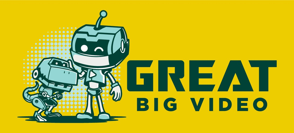 Great Big Video - Robot and Dinosaur Vectors