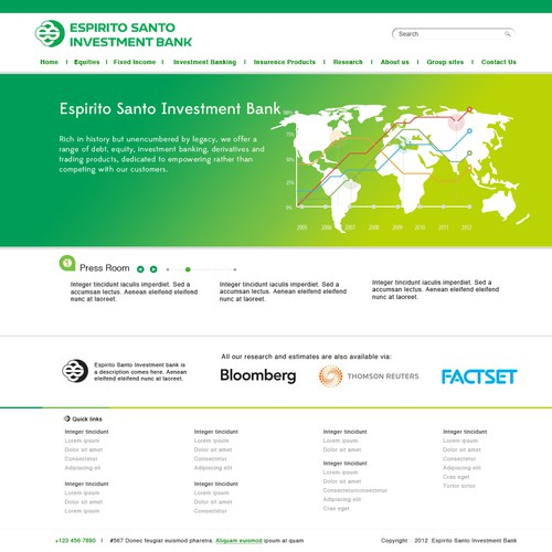 Espirito Santo Investment Bank needs a new website design