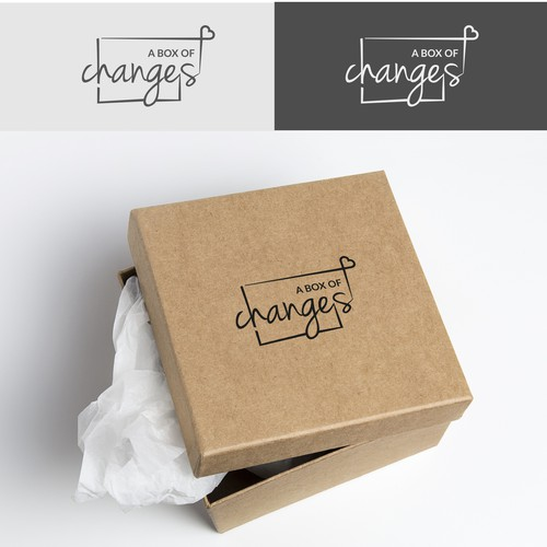 A box of changes logo concept