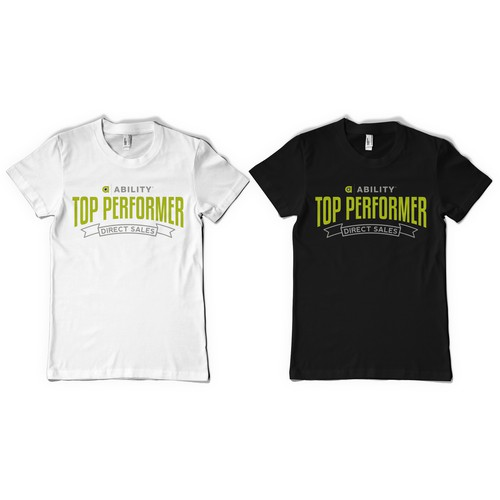 Create a Top Performer t-shirt design for the ABILITY Sales Team
